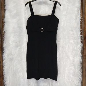 SEAQUIN HEARTS little black dress w/ square buckle